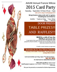 AAUW-Francie-Wilcox-Card-Party-Flyer