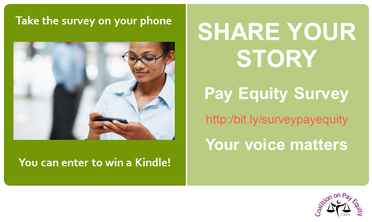 Share your story. Take the Pay Equity Survey: http://bit.ly/surveypayequity